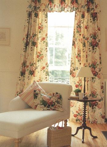 薔薇柄 カーテン